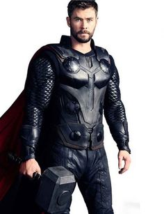 80d53232f7f Shop Infinity War Chris Hemsworth Black Vest. This Vest is worn by the  character of