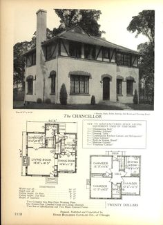 The CHANCELLOR  - Home Builders Catalog: plans of all types of small homes by Home Builders Catalog Co.  Published 1928