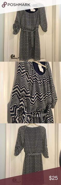 Speechless dress Lots of love dress by Speechless need I say more NWT in navy blue& white Speechless Dresses