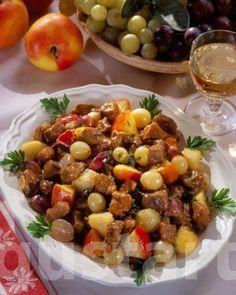 Lajos Mari konyhája - Almás-szőlős aprópecsenye
