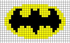 Batman-symbol-chart for a Batman knit hat pattern that is also at this location Double Knitting Patterns, Bead Loom Patterns, Knitting Charts, Loom Knitting, Cross Stitch Patterns, Crochet Patterns, Free Knitting, Batman Crochet, Embroidery Stitches