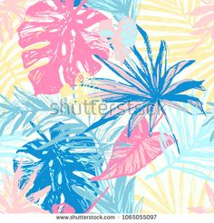 Palm, fan palm, monstera, banana leaf in grunge retro style. Line art. Design Tropical, Tropical Pattern, Tropical Prints, Palm Print, Scandinavian Style, Drawn Art, Hand Drawn, Line Art, Silhouettes