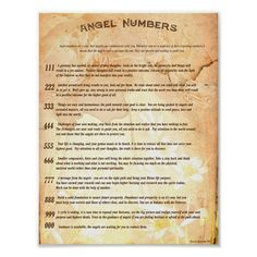 Angel Numbers Poster
