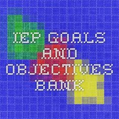 IEP Goals and Objectives Bank