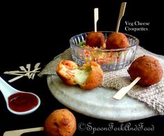 VEGETABLE AND CHEESE CROQUETTES