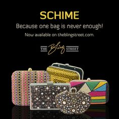 Schime, Because one bag is never enough.  http://www.theblingstreet.com/designers/schime