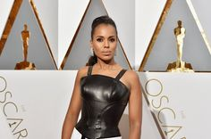 Pin for Later: Kerry Washington Stole the Oscars Red Carpet in the Most Subtle Way