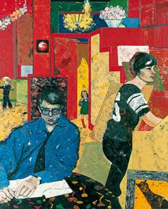 The Architects by R. B. Kitaj Date painted: 1981 Oil on canvas, 153 x cm Collection: Pallant House Gallery Art And Illustration, Cultura Pop, Figure Painting, Painting & Drawing, Pop Art, Figurative Kunst, David Hockney, Jasper Johns, Arte Pop