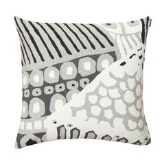 Marimekko Kumiseva Grey / White / Black Jacquard Throw Pillow