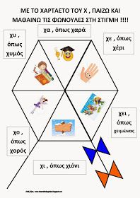 Παιζω με τον χαρταετο και το Χχ Kites Craft, Carnival Crafts, Greek Language, Preschool Education, Learn To Read, Early Childhood, Alphabet, Projects To Try, Playing Cards