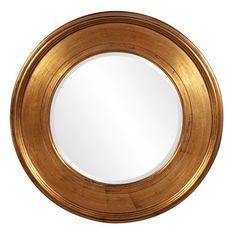 Valor Gold 2 Inch Round Mirror Howard Elliott Collection Round Mirrors Home Decor