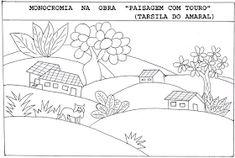 Educação infantil facil: TARSILA DO AMARAL Colouring Pages, Rug Hooking, Op Art, Art School, Art History, Diagram, Map, Album, Education