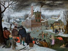 Galleries across the UK choose their favourite festive paintings. Winter by Pieter Brueghel the Younger