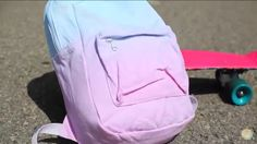 Cute DIY backpack by LaurDIY on YouTube. Go to backpack go back to school