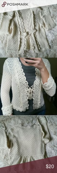 💕Anthropologie Knitted and Knotted Top S Beautiful knitted and knotted cardigan  Size Small in great condition Anthropologie  Tops