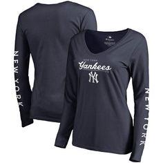 e50de7312 New York Yankees Fanatics Branded Women's High Class Long Sleeve V-Neck T- Shirt