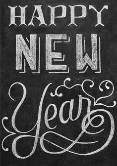 happy new year 2012 chalk art