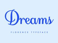 Florence is a calligraphic & handwriting fully developed typeface. The font has a friendly style and should work nicely on letters, wedding and invitation cards. #free #font