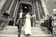 Roma | Manuela + Maurizio getting married at the gorgeous Santa Teresa d'Avila Church. A classy and informal, cool wedding. #wedding #rome