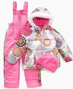Hawke & Co Kids Snowsuit, Little Girls Coat and Snowsuit Set - Kids - Macy's