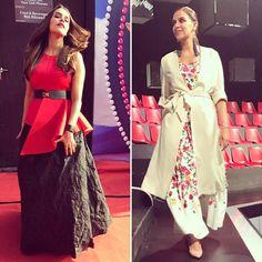 Hair up ... hair down ! #chhotemiyandhaakad look 1. @ampmfashion top @rivafashionme skirt @emiliopucci Accesories look 2. @ranna