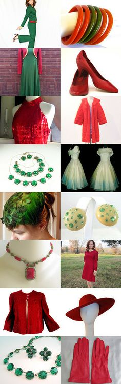 Holiday Vintage Wardrobe by TeamLove by Gayla and Al Esch on Etsy--Pinned with TreasuryPin.com