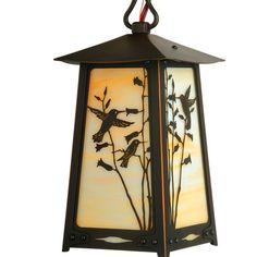 "America's Finest Lighting Company Baldwin 1 Light Outdoor Hanging Lantern Shade Finish: Champagne, Size: 13.25"" H x 7"" W x 7"" D, Finish: Textured B..."