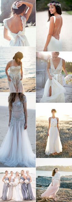 Sun-drenched beaches are crying out for swoon worthy beach wedding dresses which will shimmer and float in the breeze wowing your wedding day guests. Wedding Bells, Fall Wedding, Beach Wedding Gowns, Wedding Dresses, Beach Weddings, Wedding Dress Accessories, Beautiful Beach, Wedding Styles, Wedding Planning