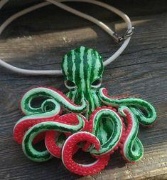 Cthulhu Pendant Octopus pendant Octopus necklace Valentines