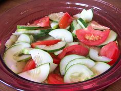 Simple Cucumber Tomato Salad - Low carb recipes suitable for all low carb diets - Sugar-Free Low Carb Recipes