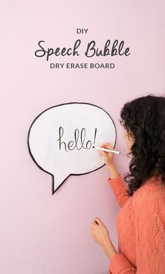 How to make a Speech Bubble Dry Erase Board by Upcycling Cardboard and a Plastic Bag.