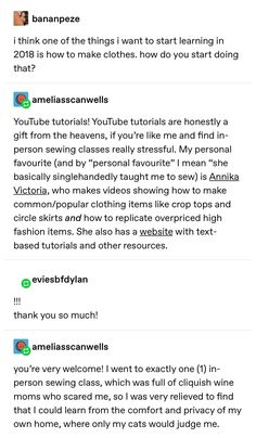 """Making Clothes collageboard ameliasscanwells: """" eviesbfdylan: """" ameliasscanwells: """" eviesbfdylan: """"i think one of the things i want to start … How To Make Clothes, Diy Clothes, Making Clothes, Sewing Hacks, Sewing Crafts, Sewing Projects, Diy Projects, Simple Life Hacks, Useful Life Hacks"""