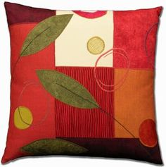 Mottled+Leaves by Susan+Hill: Fiber+Pillow available at www.artfulhome.com