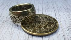 Coin Ring, Dollar Coin, Beading Projects, Coins, Rings For Men, Jewelry Making, Beads, Awesome, Unique Jewelry