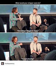 Love Jensen's face.
