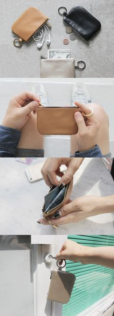 Want to be free from a heavy and fat wallet? This simple and classy coin pouch is highly recommended!
