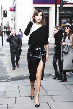 Trendy Fashion Week Street Style Skirt Black And White Gq Style, Gq Mens Style, Mens Street Style 2018, Rihanna Street Style, Street Style London, Estilo Gamine, Emily Ratajkowski Street Style, Look Fashion, Fashion Outfits