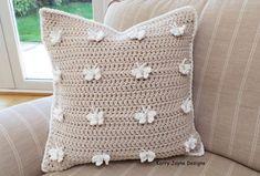 CROCHET PILLOW Pattern Butterfly pillow by KerryJayneDesigns