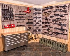 Home basement gun room designs awesome gun rooms for How to build a safe room in your garage