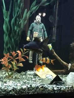 Diy Aquarium, Aquarium Decorations, Aquarium Fish Tank, Leopard Gecko Setup, Fish Tank Themes, Cool Fish Tanks, Artsy Fartsy, Jason Friday, Jason Voorhees