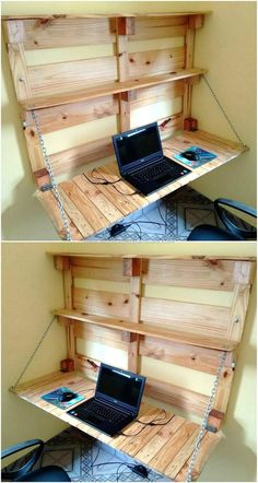Simple And Easy Pallets Recycling Ideas Pallet Furniture Pallet Wood Projects Easy Pallet Projects How To Build Furniture From Pallets Pallet Crafts For Christmas DI. Pallet Home Decor, Pallet Desk, Pallet Walls, Pallet Crafts, Diy Pallet Furniture, Diy Home Decor, Furniture Ideas, Desk Ideas, Ideas Fáciles