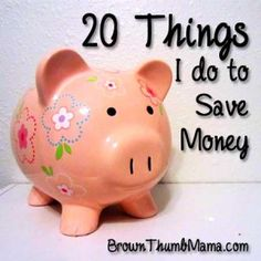 20 things I do to save money: BrownThumbMama.com