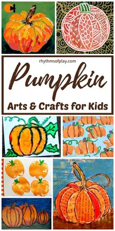 Get creative with this awesome collection of easy fall art projects for kids. These autumn art projects and fall painting ideas for children are perfect for an art lesson at home or in the classroom. Arts And Crafts Movement, Fall Arts And Crafts, Easy Fall Crafts, Fall Crafts For Kids, Art For Kids, Pumpkin Crafts Kids, Autumn Art Ideas For Kids, Thanksgiving Art Projects, Fall Art Projects