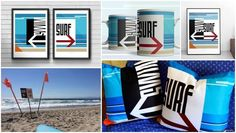 Beach Town, Beach House, California Beach, Beach Art, Bungalow, Home Goods, Surfing, Swimming, Chill