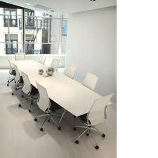 Conference room white high gloss table