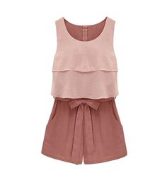 This cute color-block romper is playful and sophisticated. Wear it to a sunny summer lunch with cork heel wedges or casual sandals.