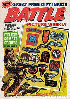 Battle Picture Weekly (first issue), March 1975 Comics Uk, Comics For Sale, War Comics, Comic Book Artists, Comic Book Characters, Comic Books, Comic Art, Gi Joe, Vintage Comics