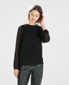 ZARA - COLLECTION SS15 - LONG-SLEEVED TOP
