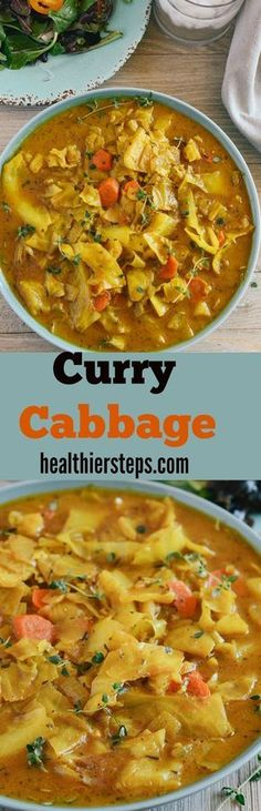 This quick and easy Curry Cabbage will be a sure hit! It is not only healthy but astonishingly full of flavor! Curry cabbage is another quick dish that I could prepare for my husband seven days a week…More Curry Recipes, Vegetable Recipes, Chicken Recipes, Potato Recipes, Vegetarian Cabbage Recipes, Healthy Cabbage Recipes, Cabbage Soup Recipes, Vegetable Noodles, Healthy Recipes For Diabetics