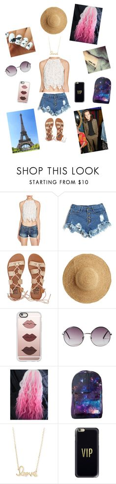 """Vacation Time!"" by brynn-gaudet on Polyvore featuring Lucy Paris, Billabong, Gucci, Flora Bella, Casetify, Monki and Sydney Evan"